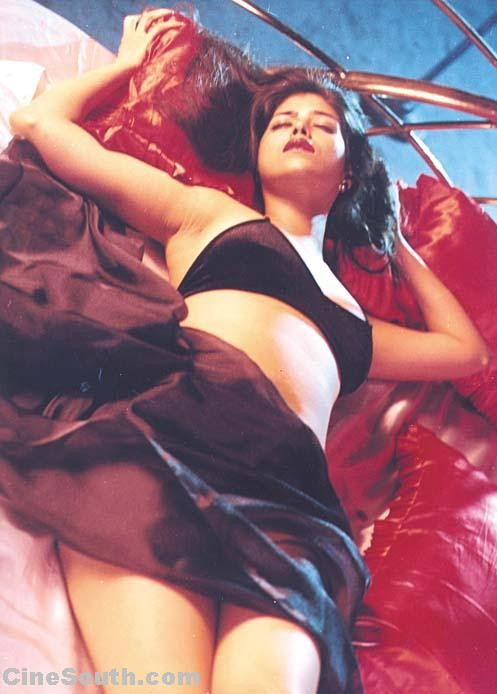 rambha, or ramba, seductive thodai, thigh ramba, as she is called in tamil and telugu film circles